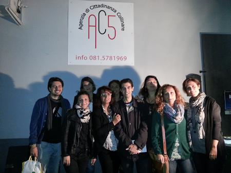 Il direttore CSV Napoli, Elvia Raia e.....tutti i partner progetto AC5.